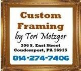 Custom Framing By Teri Metzger